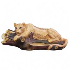 Herend Porcelain Figurine of a Lioness in a Tree